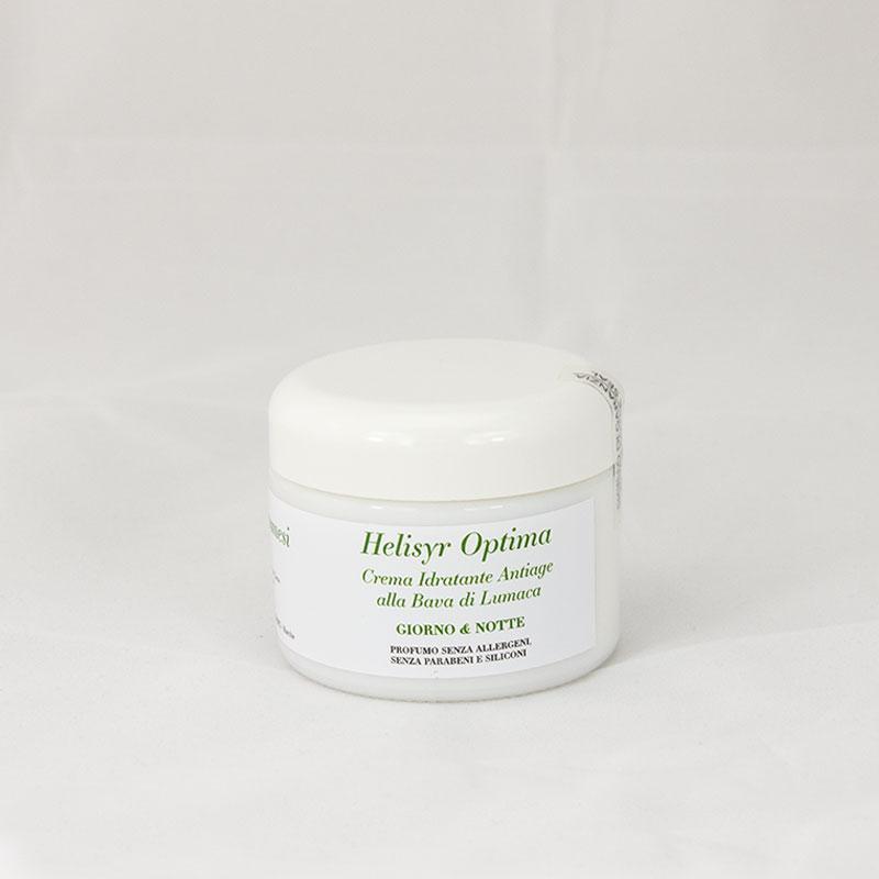 Helisyr Optima Crema Idratante Antiage Giorno e Notte alla Bava di lumaca e Acido Ialuronico prodotto retro Dermacosmesi